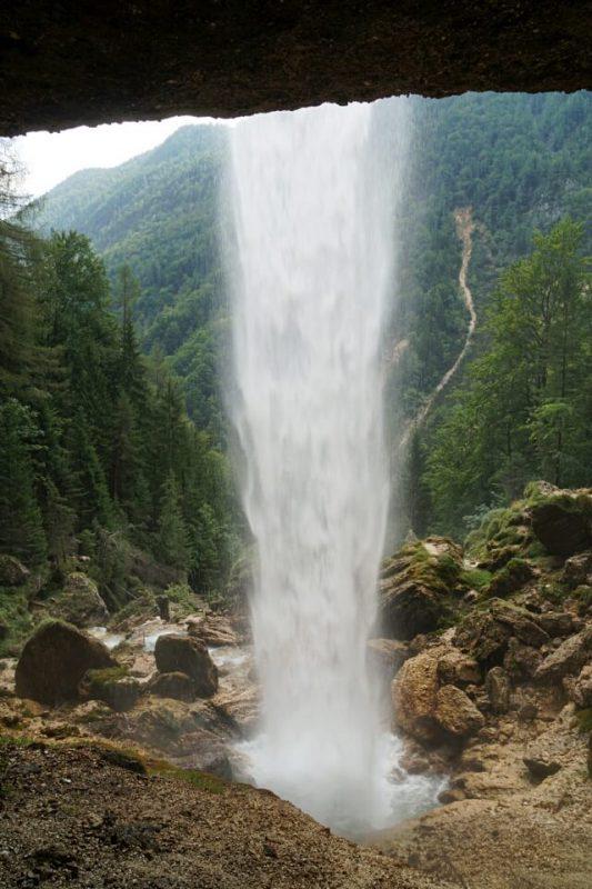 Pericnik Wasserfall im Vrata Tal in Slowenien