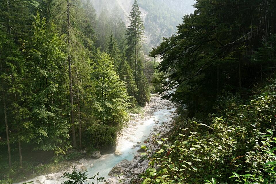 Vrata Tal im Triglav Nationalpark Slowenien