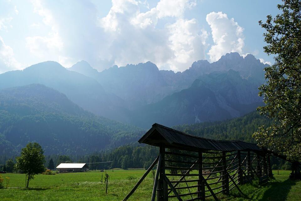 Anfahrt nach Slowenien durch das Savatal