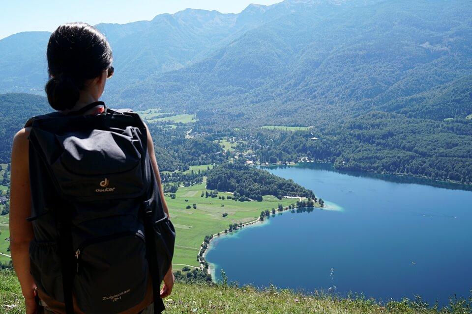 Wanderung mit Ausblick auf den Bohinj See
