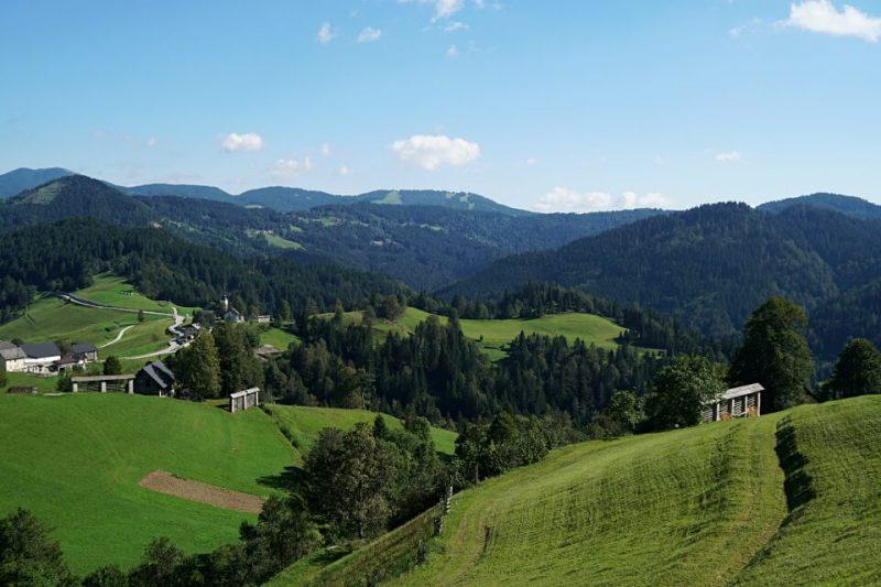 Landschaft auf unserem Slowenien Roadtrip durch den Triglav Nationalpark