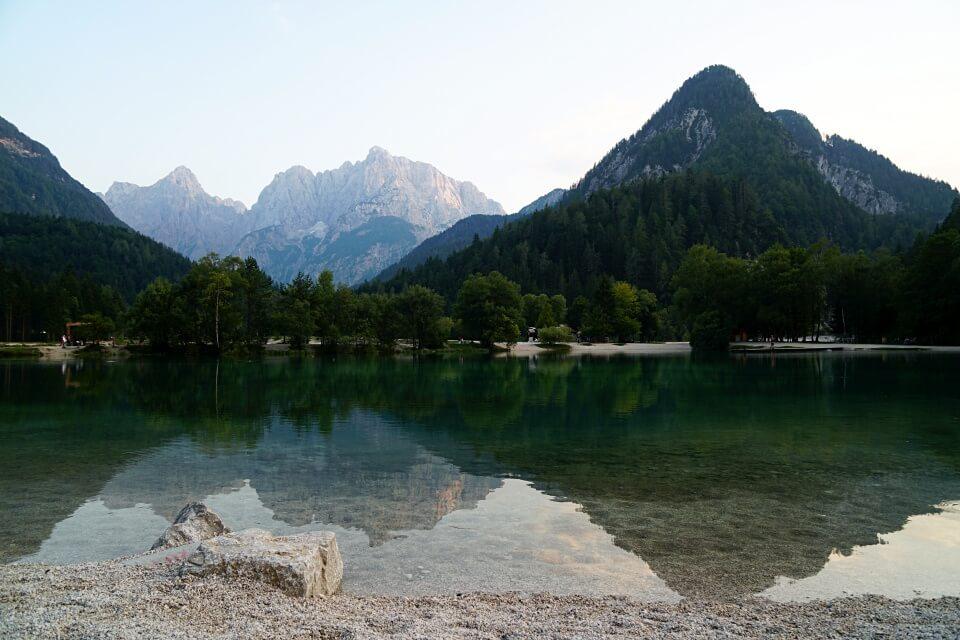 Der Jana See in Kranjska Gora in Slowenien