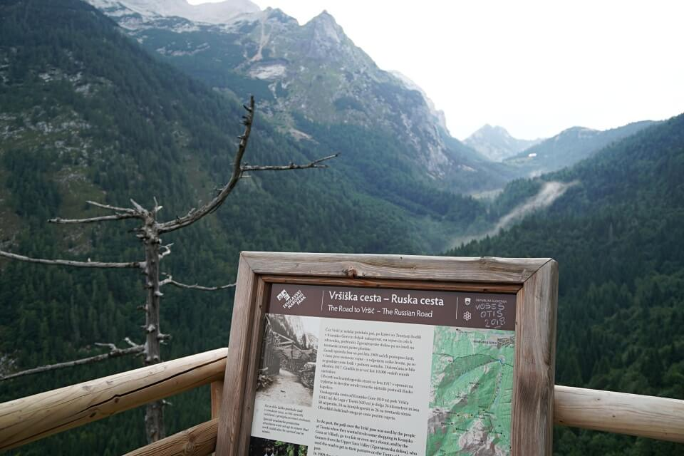 Ausblicke auf dem Vrsic Pass im Triglav Nationalpark