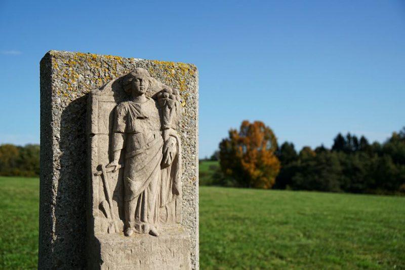 Steinskulpturen Archaeologischer Park Ostkastell in Welzheim