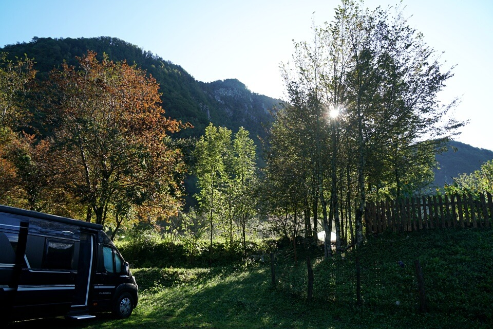 Camp Koren in Kobarid beim Camping im Triglav Nationalpark Slowenien