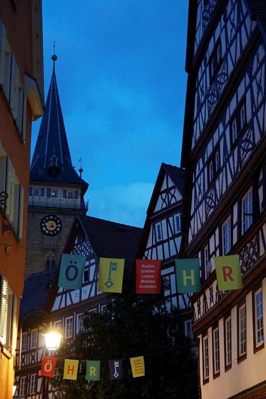 Oehringen in Hohenlohe bei Nacht