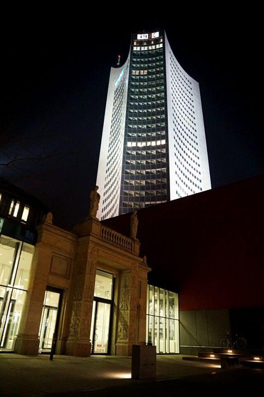 Der so genannte Uniriese bzw das Cityhochhaus Leipzig