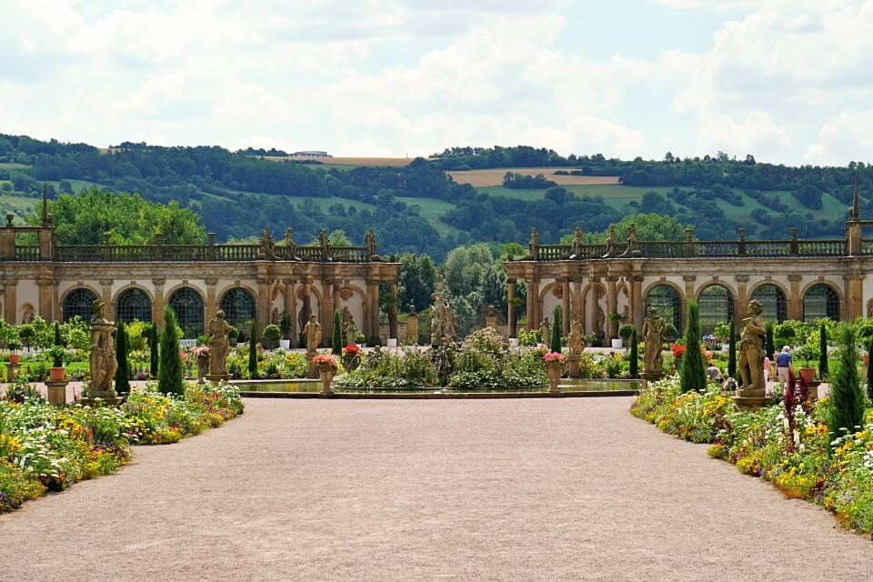 Orangerie im Barockgarten von Schloss Weikersheim