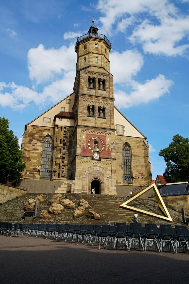 Schwaebisch Hall Sehenswürdigkeiten Die St Michaelskirche
