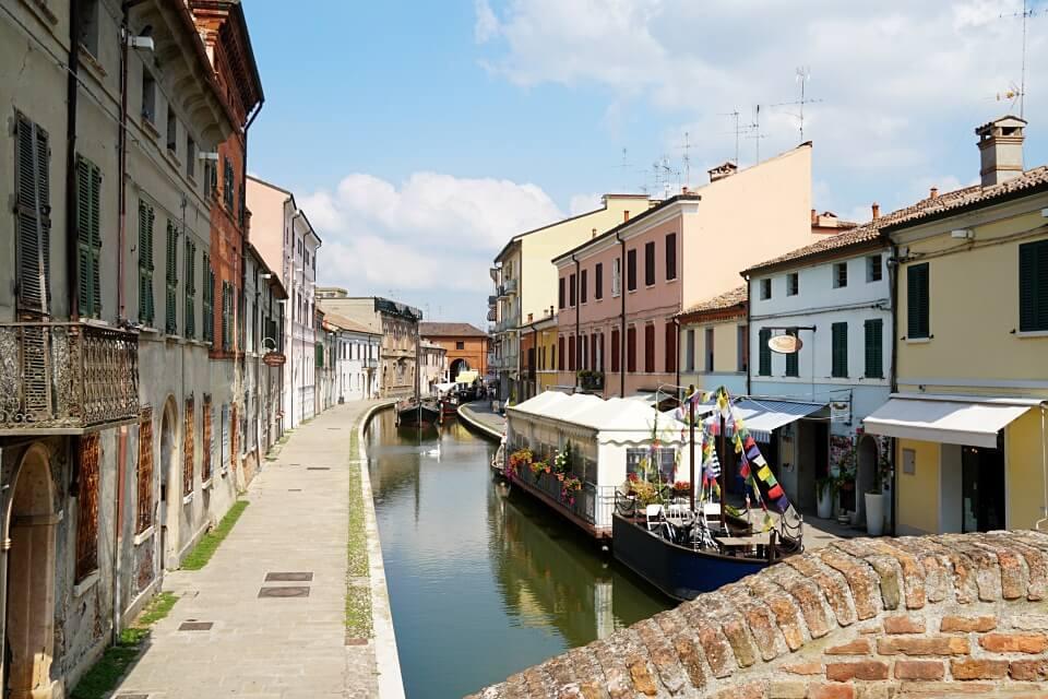 Comacchio in der Emilia Romagna