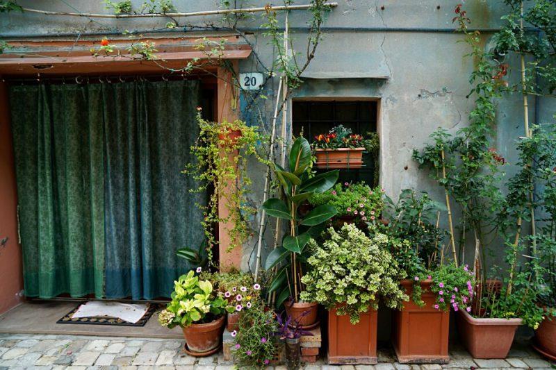 Gasse in der Emilia Romagna in Italien