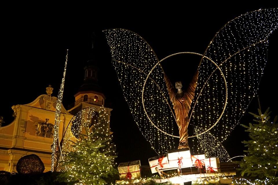 Weihnachtsengel auf dem Weihnachtsmarkt Ludwigsburg
