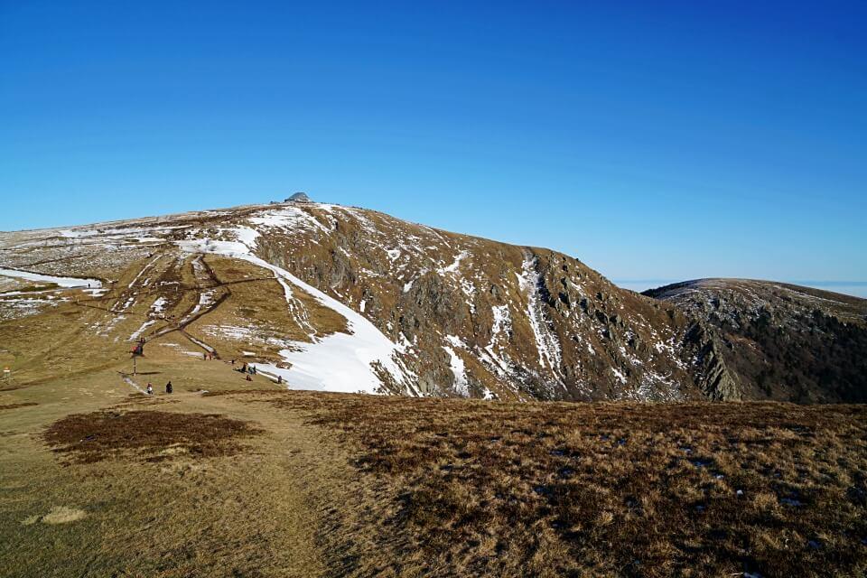 Blick auf den Gipfel Le Hohneck in den Vogesen