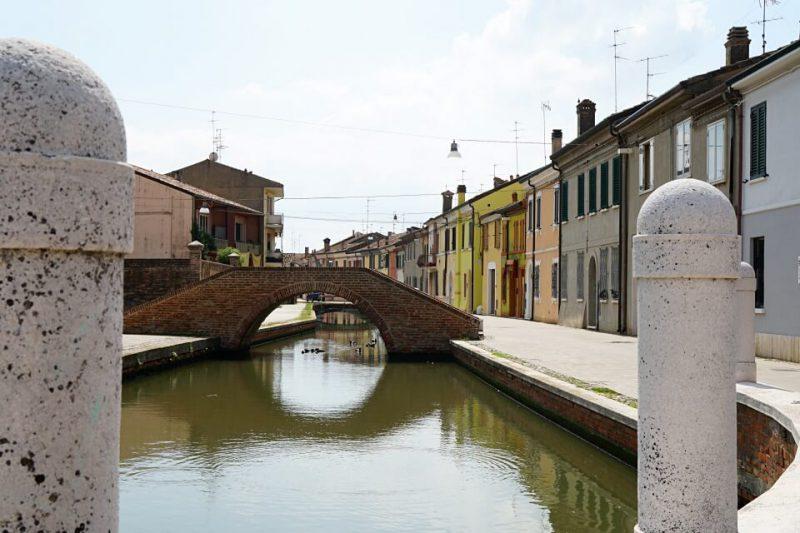 Kanal in der Lagunenstadt Comacchio