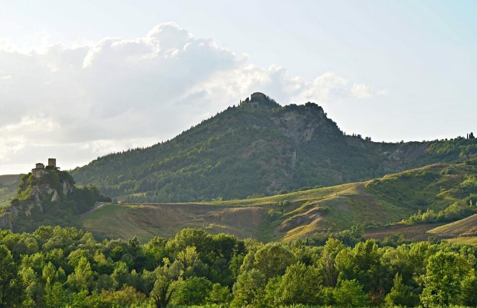 Landschaft der Emilia Romagna in Norditalien