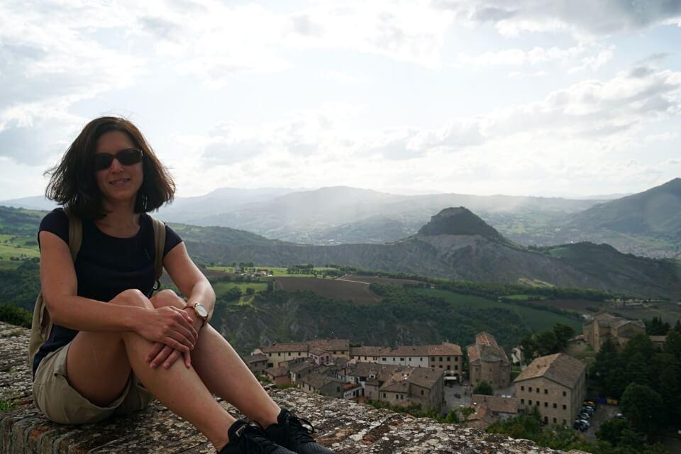 Ausblick von San Leo in der Emilia Romagna