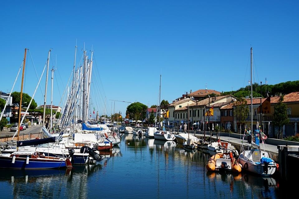 Fischerhafen in Cervia in der Emilia Romagna