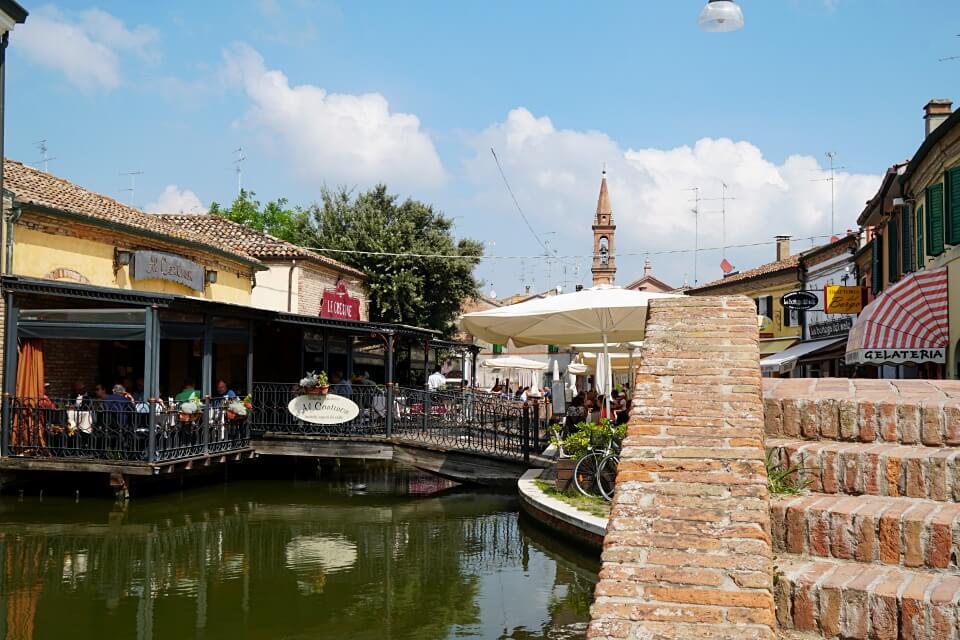 Comacchio in der Emilia Romagna in Norditalien