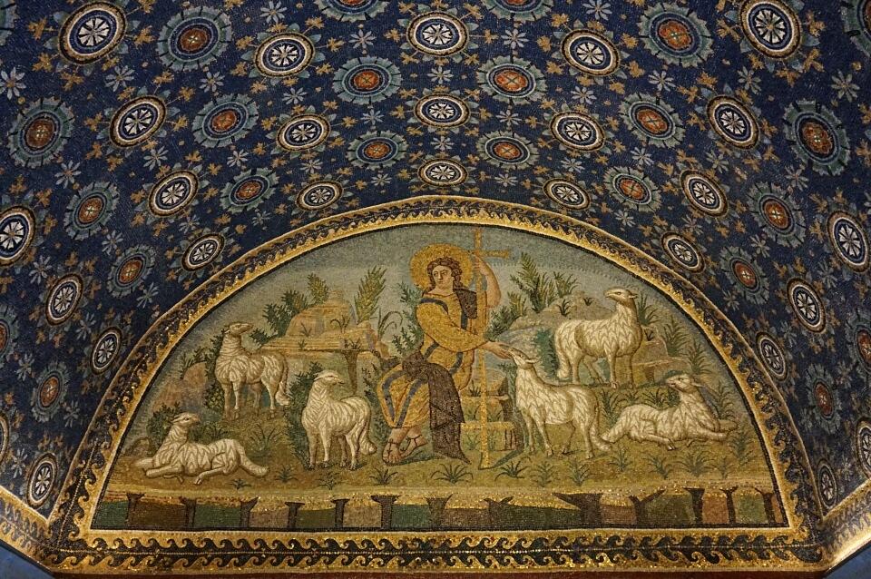 Mosaiken im Mausoleum der Galla Placidia in Ravenna
