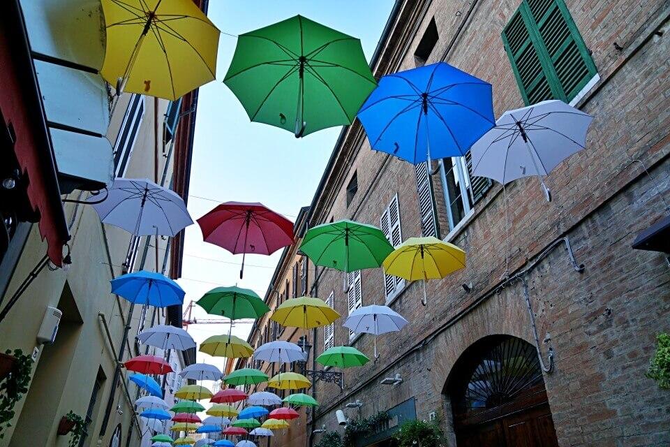 Schirmgasse in Ravenna in der Emilia Romagna
