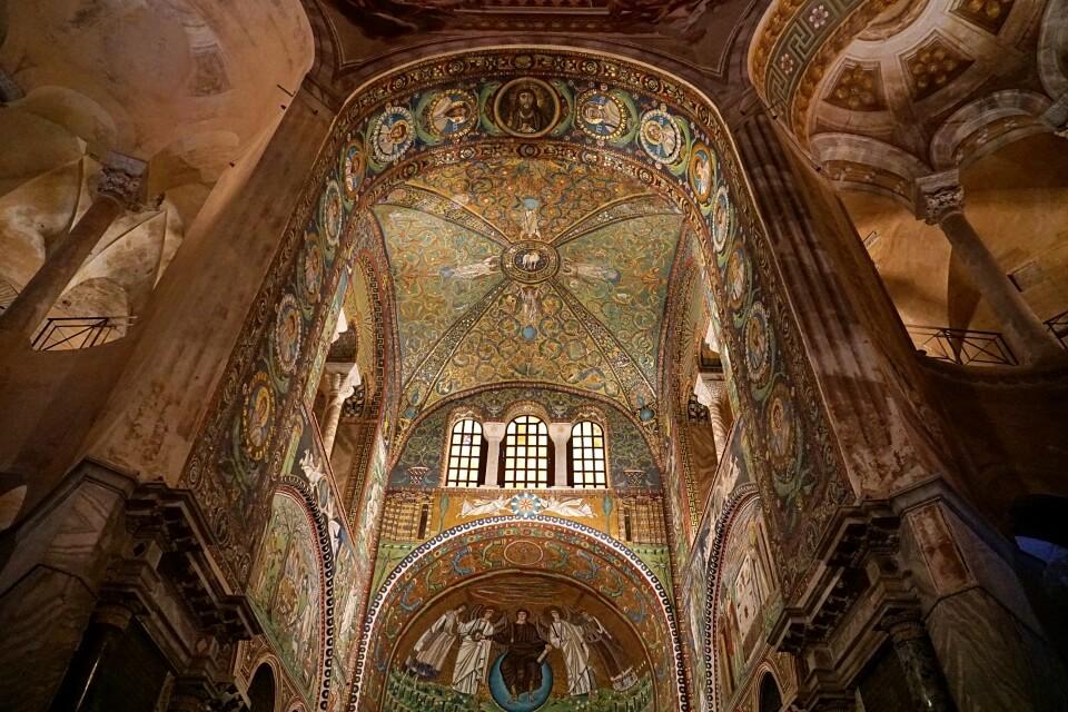 Mosaik in der Basilika San Vitale in Ravenna