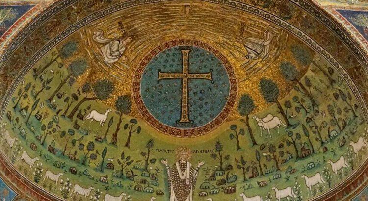 Mosaik in der Basilica di Sant Apollinare in Classe bei Ravenna