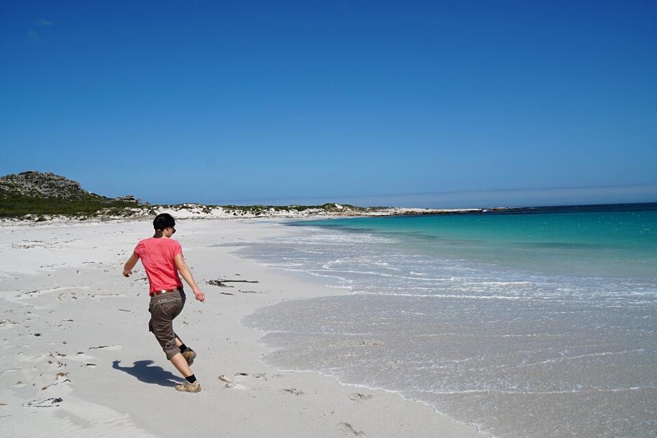 Lisa am Strand der Kap Halbinsel