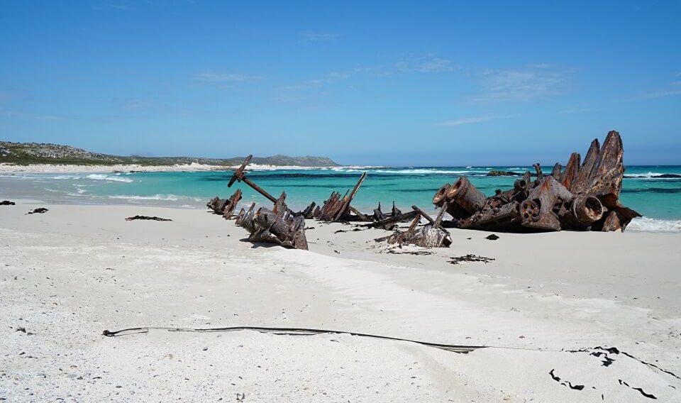 Das Schiffswrack der Nolloth auf dem Olifantsbos Shipwreck Trail am Kap der Guten Hoffnung