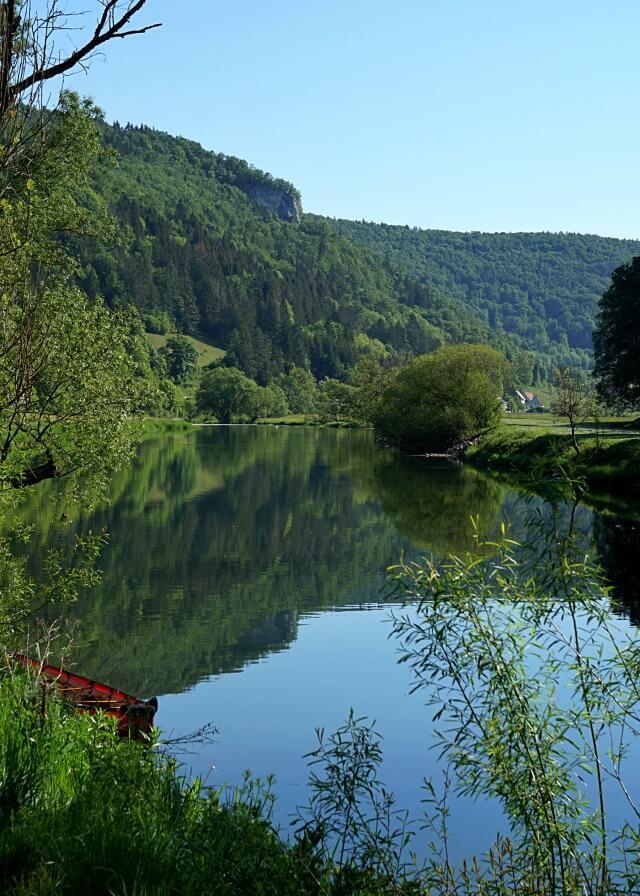 Ausblick vom Camping Wagenburg auf die Donau