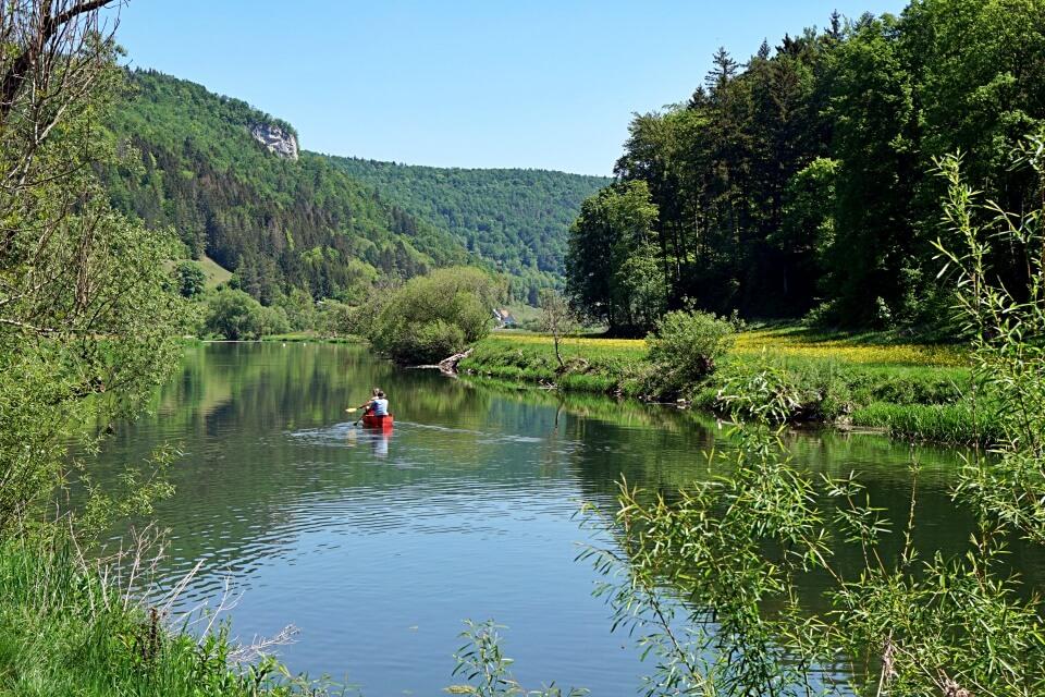 Kanufahren im Naturpark Obere Donau
