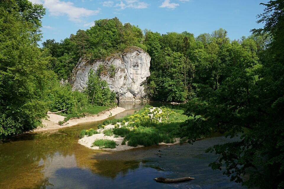 Amalienfelsen an der Donau im Fuerstlichen Park Inzigkofen