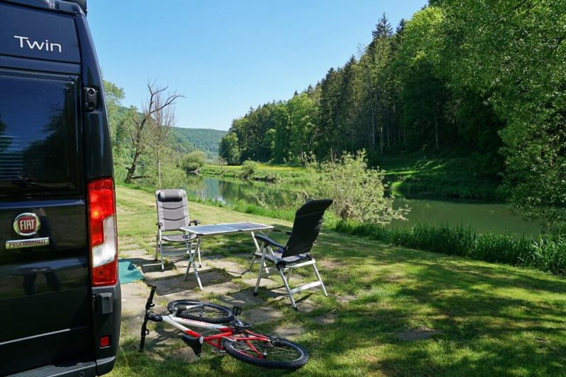 Camping Wagenburg direkt an der Donau in Hausen im Tal