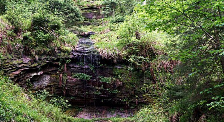 Rosshimmelwasserfall auf der Naturgewalten Tour Wanderung im Schwarzwald
