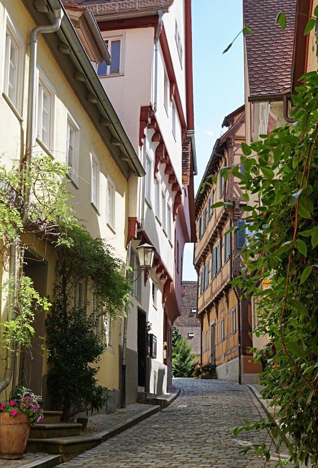 Altstadtgasse in Schwaebisch Hall am Kocher