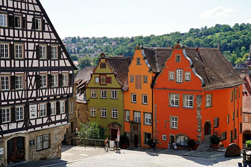 Der Marktplatz von Schwaebisch Hall