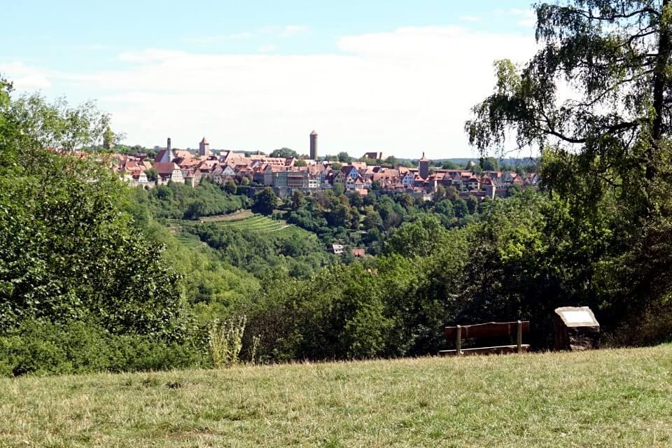 Ausblick auf Rothenburg vom Panoramaweg