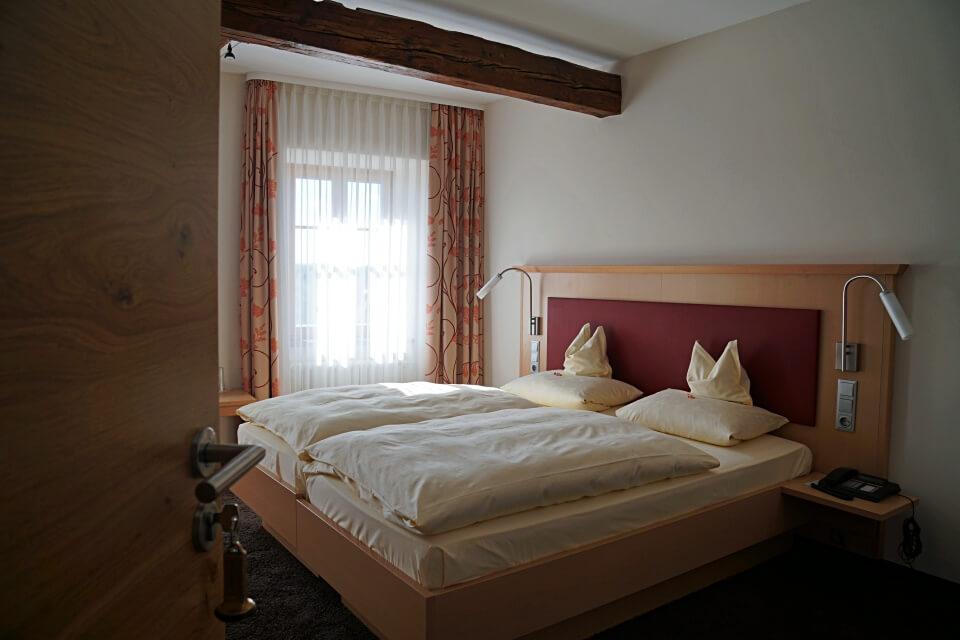 Unser Zimmer im Hotel und Weingut Glocke in Rothenburg ob der Tauber