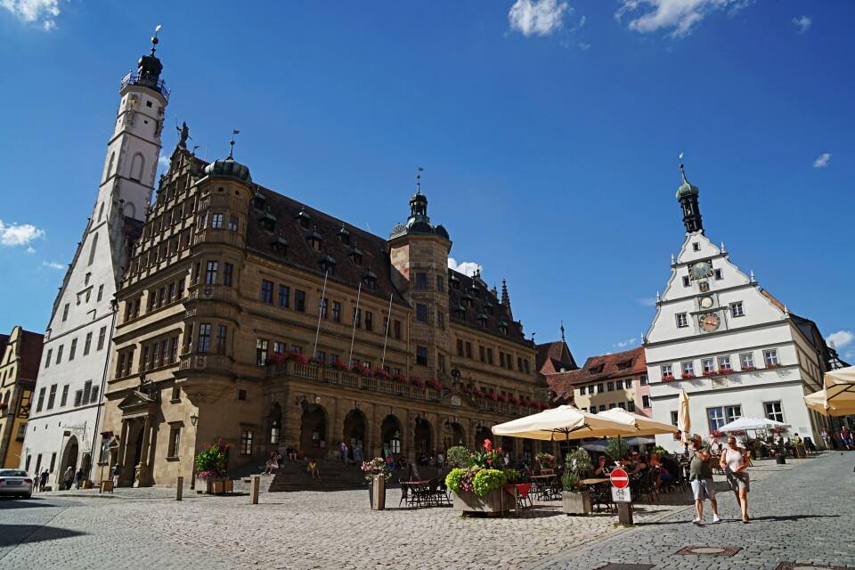 Der Marktplatz von Rothenburg ob der Tauber