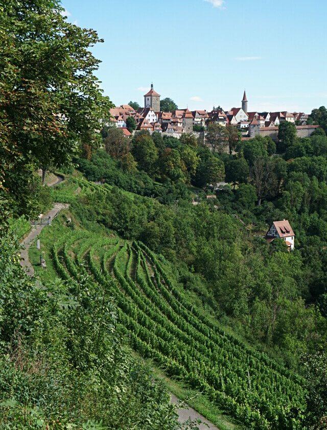 Blick ueber die Rothenburger Riviera