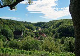 Wandern um Rothenburg ob der Tauber mit Blick ins Taubertal