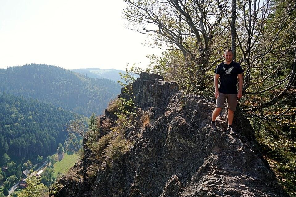 Marco beim Wandern auf dem Karlsruher Grat im Schwarzwald