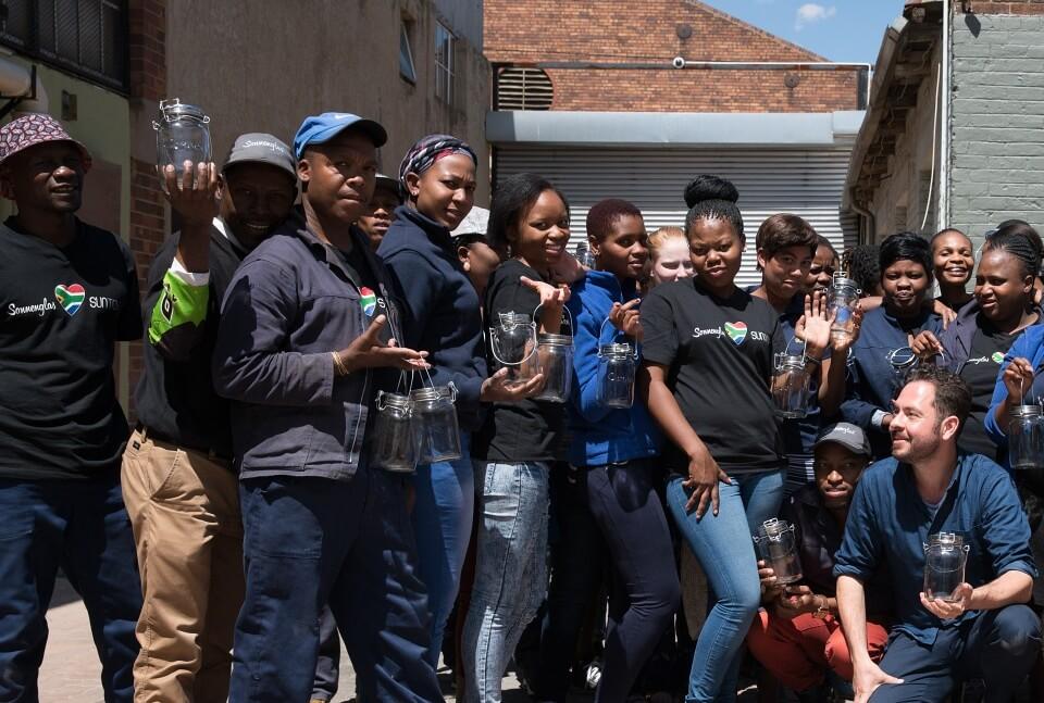 Geschenke fuer Suedafrika Fans - das Sonnenglas aus Johannesburg