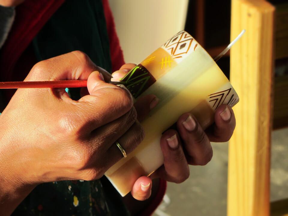 nobunto Kerzen als Geschenk fuer Suedarfika Fans