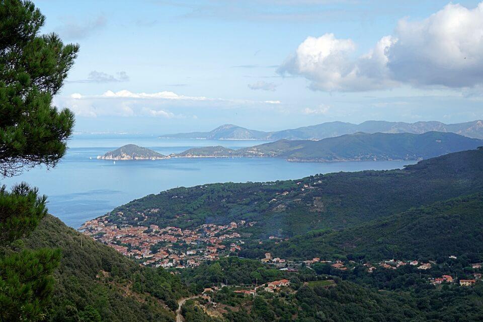 Ausblick auf Marciana Marina auf Elba