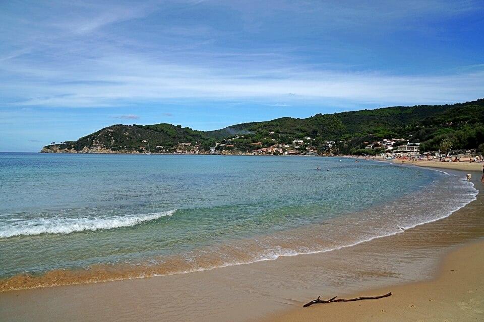 Am Strand von Biodola auf Elba