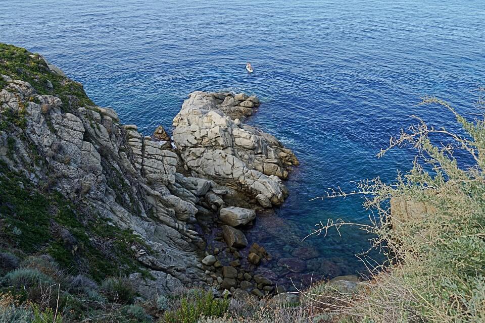 SUP Paddler auf Elba