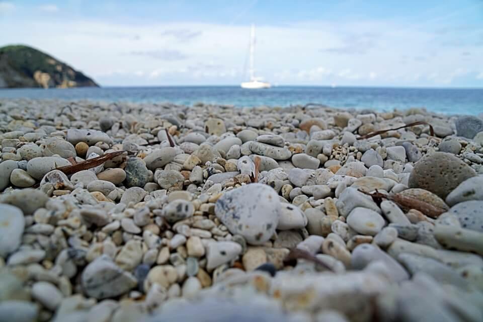 La Spiaggia di Sansone an der Nordkueste von Elba