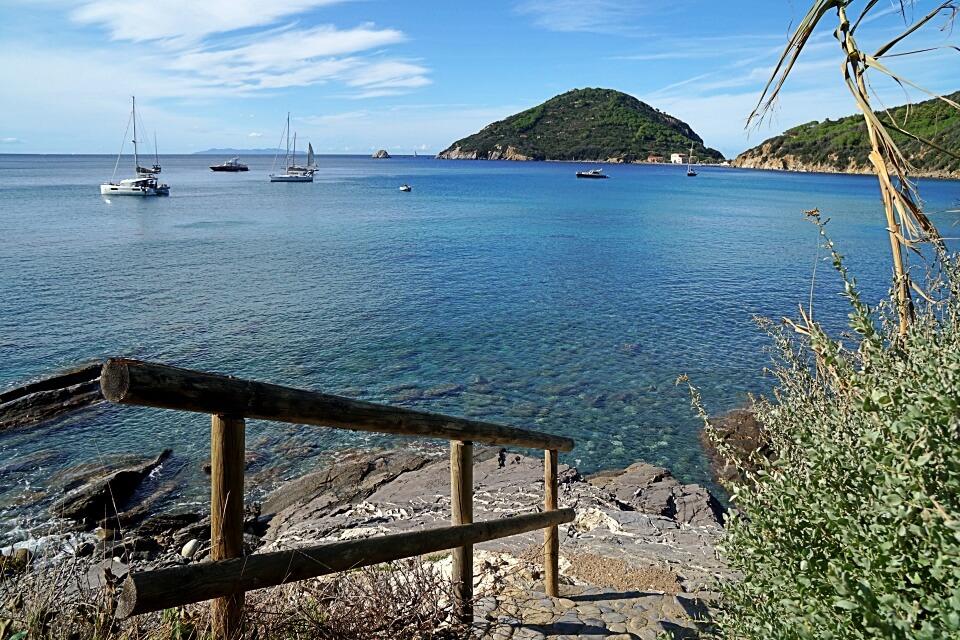 Einsame Badestelle auf Elba