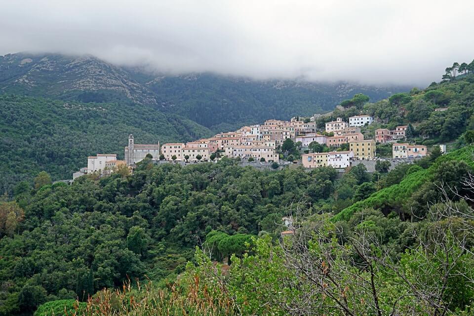 Ausblick auf Marciana Alta