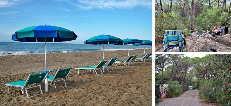 Camping Maremma Sans Souci bei Castiglione della Pescaia in der Toskana